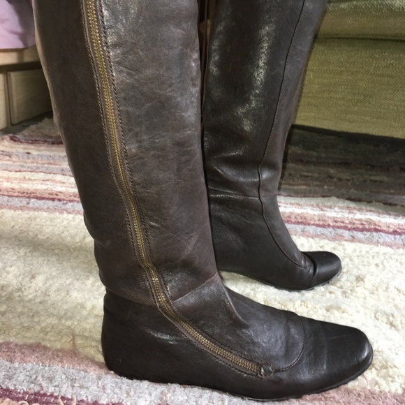 a238ad48f Born Shoes | Tall Leather Flat Boots Size 9 | Poshmark